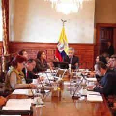 Frente conformado por Moreno presentó al mandatario informe de su trabajo. Foto: Twitter Presidencia