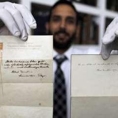 Estas notas estuvieron ocultas por 95 años y serán subastadas por una fortuna. Foto: AFP