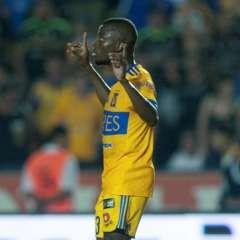 El delantero ecuatoriano tiene 8 goles en 12 encuentros disputados con los 'felinos'. Foto: AFP