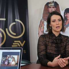 La actriz brasileña visitó las instalaciones de Ecuavisa y conversó con nosotros. Foto: Franklin Navarro/Ecuavisa.com