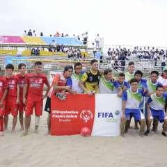 Los del Oriente perdieron la final ante Manabí en la playa Murciélago de Manta. Foto: API