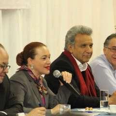Presidente Moreno participó en encuentro con migrantes en Roma, Italia. Foto: Twitter Presidencia Ecuador