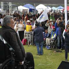 Durante evento entregó recursos para dotar de agua potable a 250 mil personas. Foto: Flickr Presidencia