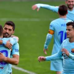Los 'azulgranas' se afianzan en el liderato de la liga española. Foto: AFP
