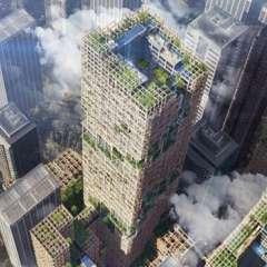 El edificio tendrá 350 plantas y estará compuesto en un 90% de madera. (Foto: Sumitomo Forestry).