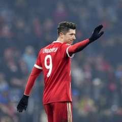 El polaco marcó dos de los cinco goles del elenco alemán. Foto: AFP