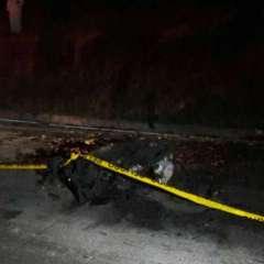 Autoridades investigan explosión de un automotor que dejó un fallecido en el cantón Colta / Foto: Ecuavisa