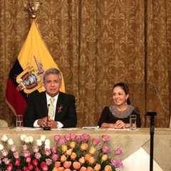 """Presidente Moreno en presentación del programa """"Misión Ternura"""". Foto: Presidencia"""