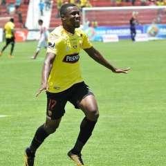 Marcos Caicedo hizo el único gol del compromiso ante los ambateños. Foto: API