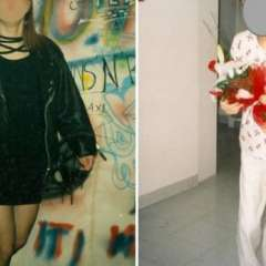 Estas son dos fotos de de la víctima de la secta de denunció lo que se hacía dentro de la organización liderada por Pianesi.