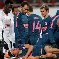 El lateral brasileño Filipe Luis se perdería el mundial por una fractura de peroné.