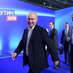 Con el 72,9% de los votos escrutados, Putin logró el 75,9% de los sufragios. Foto: AFP