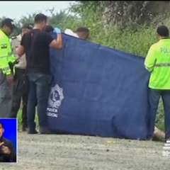Hallan muerta a una joven venezolana en Manta, Manabí. Foto: captura de video