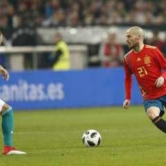 David Silva jugó con su selección ante Alemania en cotejo que terminó empatado a un gol.