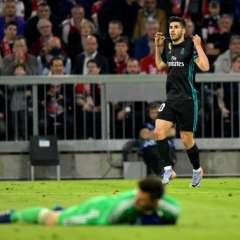 Marco Asensio hizo el gol del triunfo para el cuadro 'merengue'. Foto: GUENTER SCHIFFMANN / AFP