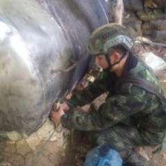 Fueron incautadas distintas máquinas como estufas industriales. Foto: Ejército de Colombia