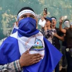 """Los jóvenes nicaragüenses afirman que """"si no hay garantías no hay diálogo"""". Foto: AFP"""