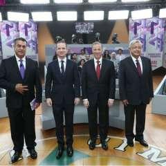 Segundo debate presidencial México 2018. AFP - Instituto Nacional Electoral