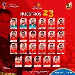 La selección de España citó nuevamente a Sergio Ramos quien debutó en Alemania 2006.