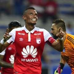 Los 'azules' cayeron 3-0 ante Independiente Santa Fe de Medellín en el George Capwell. Foto: RODRIGO BUENDIA / AFP