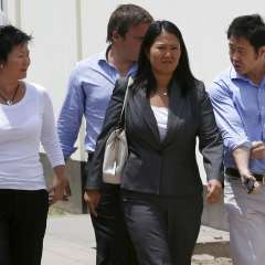 Keiko Fujimori de expulsar del Congreso peruano a su hermano Kenji. Foto: AP