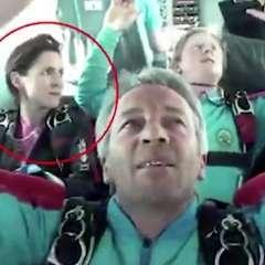La esposa de Emile Cilliers  es una paracaidista experimentada. Foto: The Sun