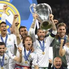 KIEV, Ucrania.- Con goles de Benzemá y Bale, Real Madrid venció 3-1 a Liverpool. Foto: AFP