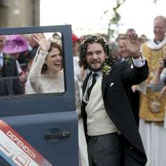 Se casan Kit Harington y Rose Leslie, pareja en 'Game of Thrones'. Foto: AP