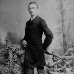 Friedrich Trump retratado en Nueva York en 1887.