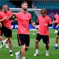 El Real Madrid se prepara para el partido de la Supercopa de Europa ante el Atlético de Madrid. Foto: AFP