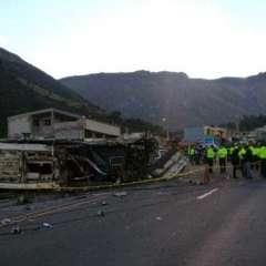 """Fiscalía colombiana reportó """"evidencias técnicas"""" sobre posible presencia de cocaína en el bus. Foto: AFP"""