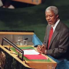 Muere Kofi Annan, exsecretario general de la ONU y Nobel de la Paz. Foto: AFP