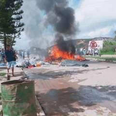 Campamento de venezolanos es atacado en frontera con Brasil. Foto: Twitter