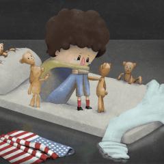 """""""Mojaban la cama y lloraban mucho""""."""