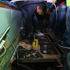 6 personas detenidas en Colombia por droga en bus. Foto: Twitter Fiscalía Ecuador