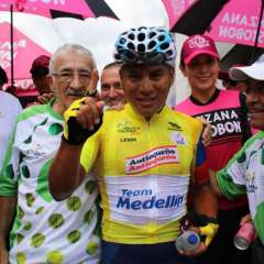 MEDELLÍN, Colombia.- Jonathan Caicedo ganó la edición 68 de la Vuelta a Colombia. Foto: Anderson Bonilla