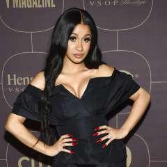 Cardi B llega a la fiesta de Warner Music Group previa a los Grammy en Nueva York. Foto: AP