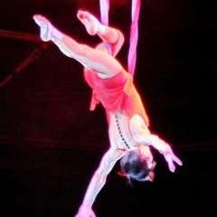 Acróbata rusa se cae al vacío en plena actuación en el circo. Foto captura de pantalla