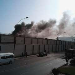 Los desórdenes y el fuego se desataron hacia las 16H00 en el centro de rehabilitación juvenil Maranguita. Foto: panorama.com.ve