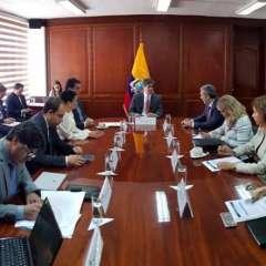 La delegación está encabezada por Édison Lanza. Foto: Min. Interior