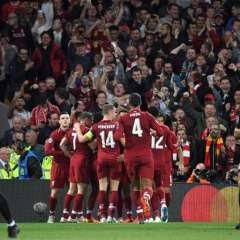 Los 'Reds' superaron 3-2 a los parisinos en el estadio Anfield. Foto: Paul ELLIS / AFP
