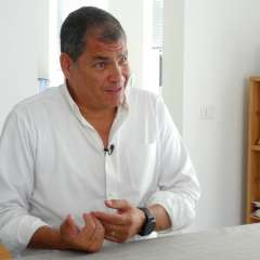 Balda, que acusa de su secuestro a Correa, cuestiona imparcialidad y quién los financia. Foto: Archivo AP