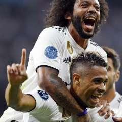 Los 'merengues' superaron 3-0 a la Roma en el estadio Santiago Bernabéu. Foto: GABRIEL BOUYS / AFP
