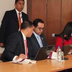 QUITO, Ecuador.-  La audiencia se reinstalará el martes 25 de septiembre a las 09:30. Foto: Twitter Fiscalía.