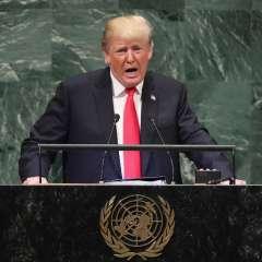Trump fue tajante en el podio de la ONU. Foto: AFP