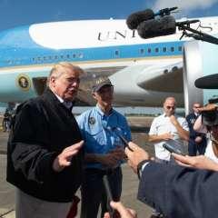 Trump en Florida y Georgia para evaluar daños del huracán Michael. Foto: AFP