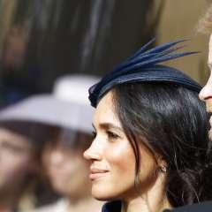 Los duques de Sussex durante la boda de la princesa Eugenie de York y Jack Brooksbank en el Castillo de Windsor. Foto: AP