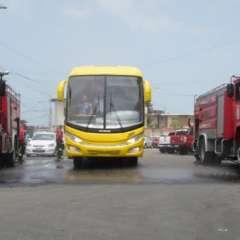 El equipo manabita estrenó su nuevo medio de transporte. Foto: Tomada de @DelfinSC