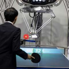 Salón World Robot Summit, en China. Foto: AFP