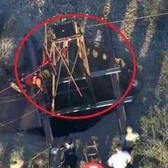 El increíble rescate de un hombre atrapado en una mina. Foto: captura de video
